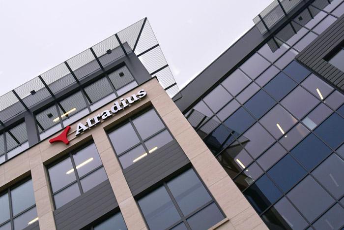 Gebouw Atradius Namen met logo